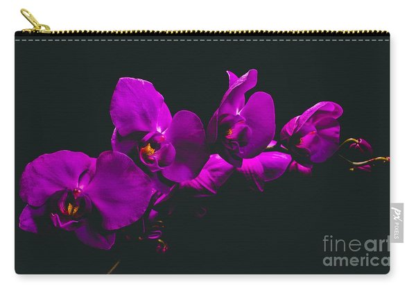 Floating Purple Orchid Carry-all Pouch