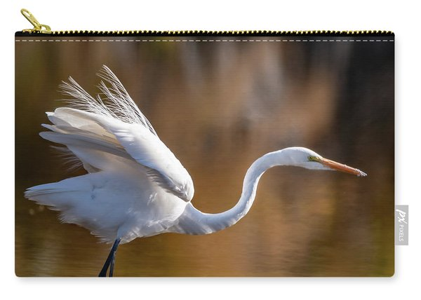 Floofy Egret Carry-all Pouch