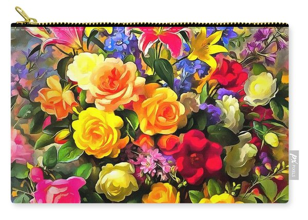 Floral Bouquet In Acrylic Carry-all Pouch