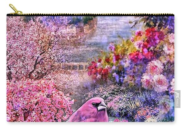 Floral Embedded Carry-all Pouch