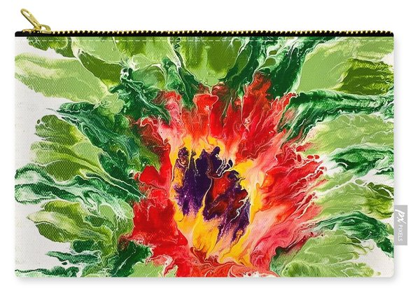 Floral Flourish Carry-all Pouch