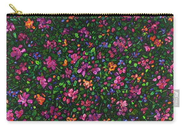 Floral Interpretation - Weedflowers Carry-all Pouch