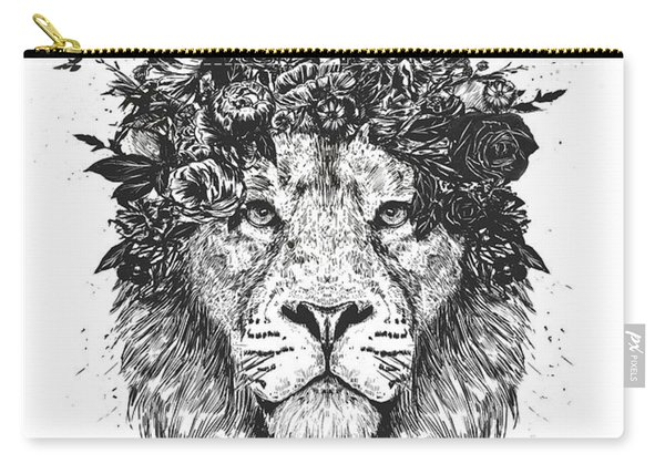 Floral Lion Carry-all Pouch