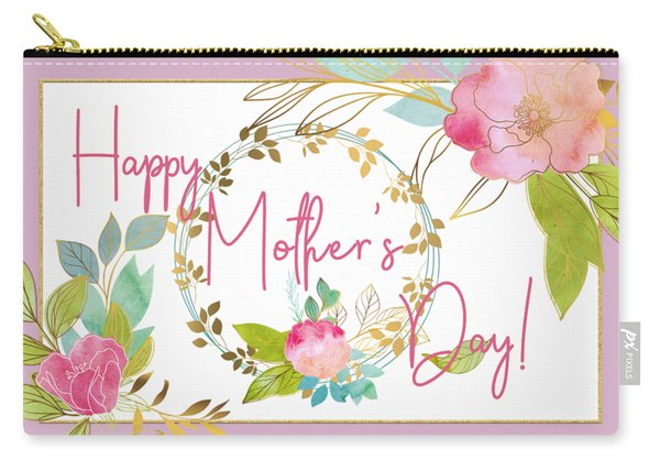 Floral Mother's Day Art Carry-all Pouch