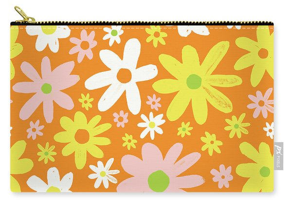 Flower Power Pattern Carry-all Pouch