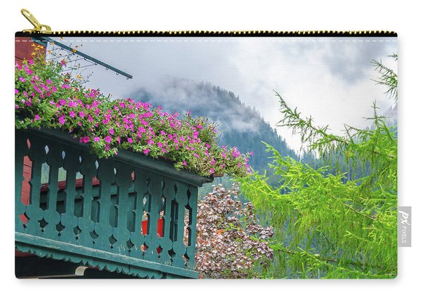 Flowered Balcony Carry-all Pouch