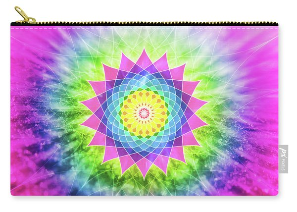 Flowering Mandala Carry-all Pouch
