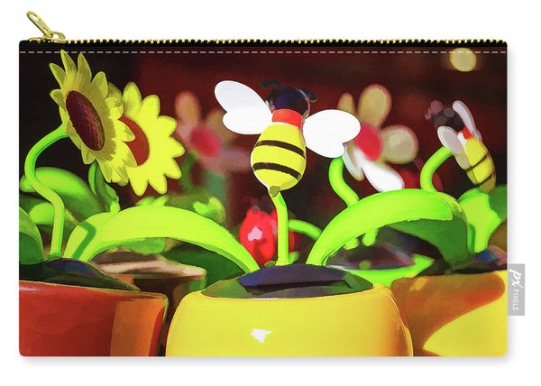 Flowers And Bees Carry-all Pouch