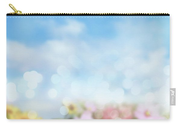 Flowers And Sky Spring Feeling Carry-all Pouch