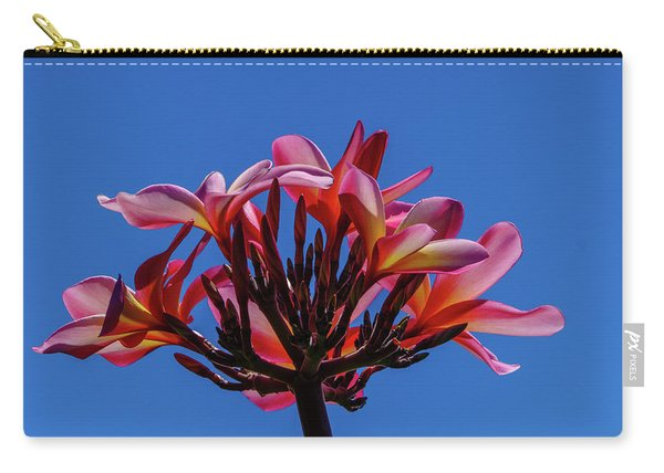 Flowers In Clear Blue Sky Carry-all Pouch
