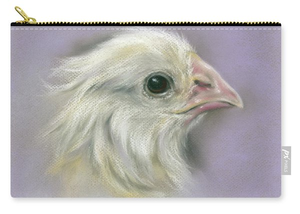 Fluffy Yellow Chick On Purple Carry-all Pouch