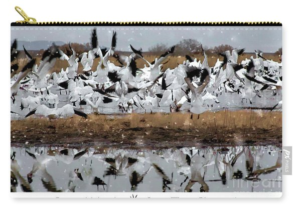 Carry-all Pouch featuring the photograph Fly With Your Flock by Susan Warren