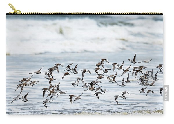 Flying Flock Of Shorebirds Carry-all Pouch