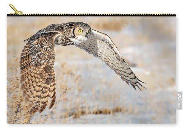 Flying Great Horned Owl Carry-all Pouch