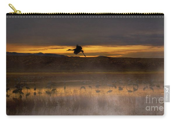 Carry-all Pouch featuring the photograph Flying Over Crane Pond by Susan Warren