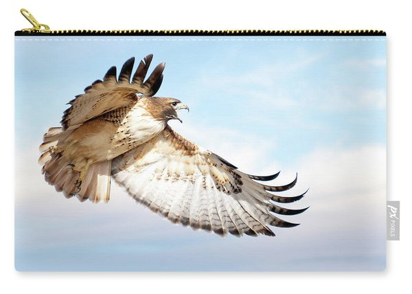 Flying Red-tailed Hawk Carry-all Pouch