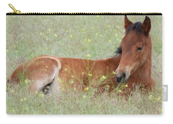 Foal In The Flowers Carry-all Pouch