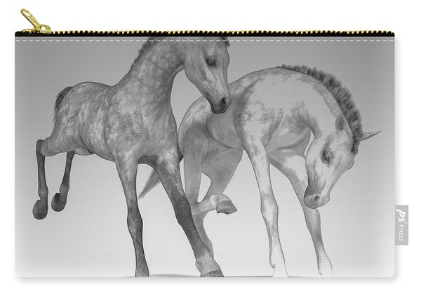 Foals Black And White Bleached Carry-all Pouch