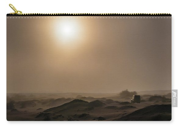 Foggy Morning In The Namib Desert Carry-all Pouch