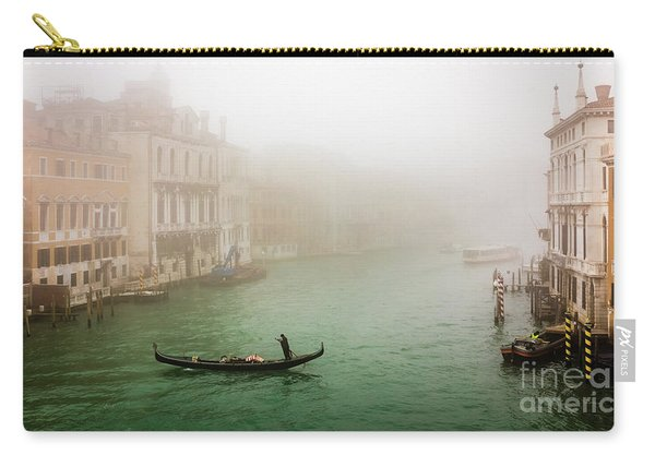 Foggy Morning On The Grand Canale, Venezia, Italy Carry-all Pouch