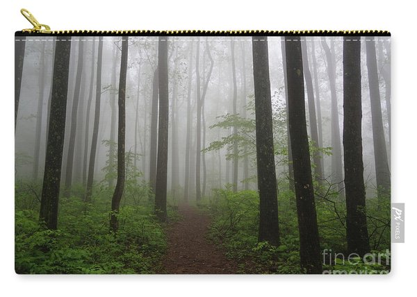 Foggy Spring Forest Carry-all Pouch