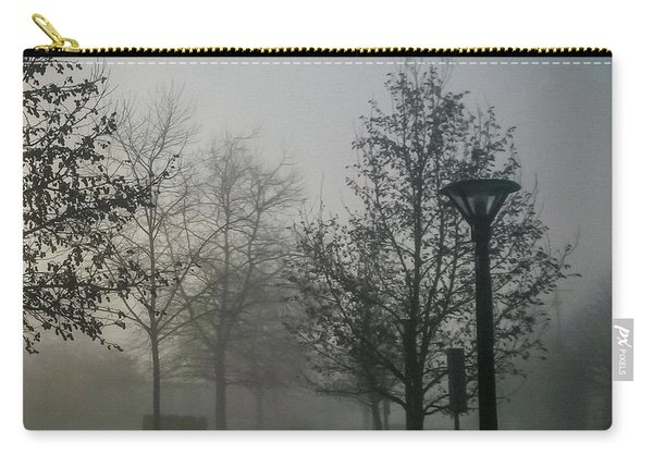 Carry-all Pouch featuring the photograph Foggy Street by Juan Contreras