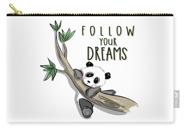 Follow Your Dreams - Baby Room Nursery Art Poster Print Carry-all Pouch