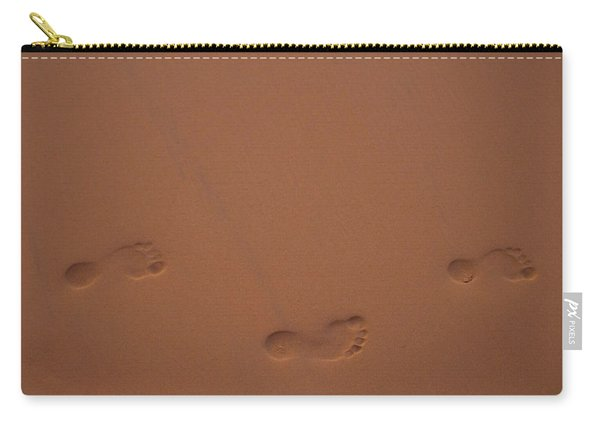 Foot Prints In Sand Carry-all Pouch