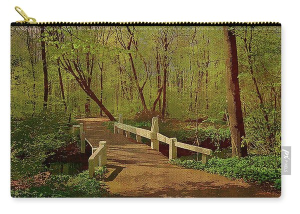 Footbridge Through The Woods Carry-all Pouch