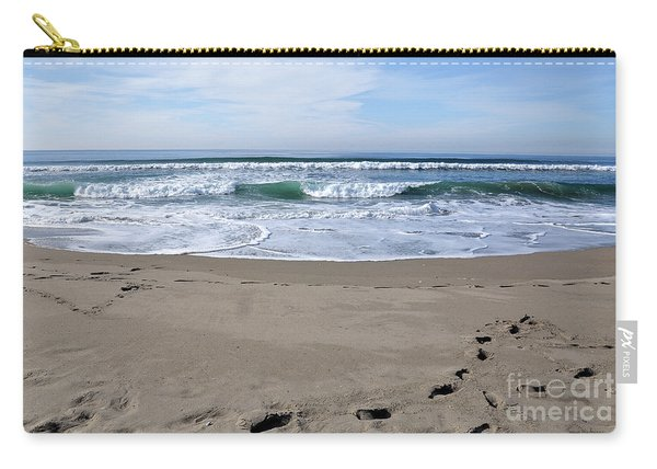 Footprints By The Sea Carry-all Pouch