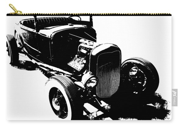 Ford Flathead Roadster Two Blk Carry-all Pouch