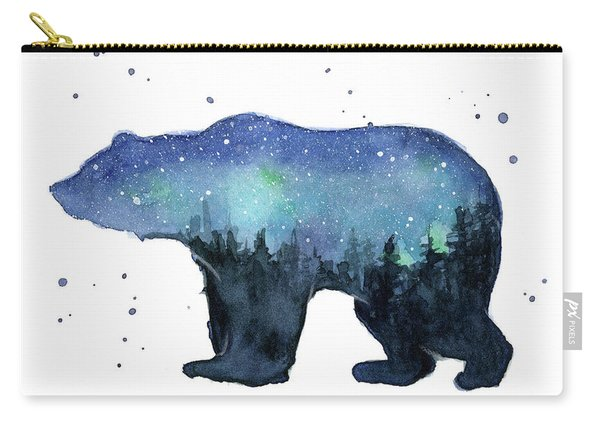 Forest Bear Watercolor Galaxy Carry-all Pouch