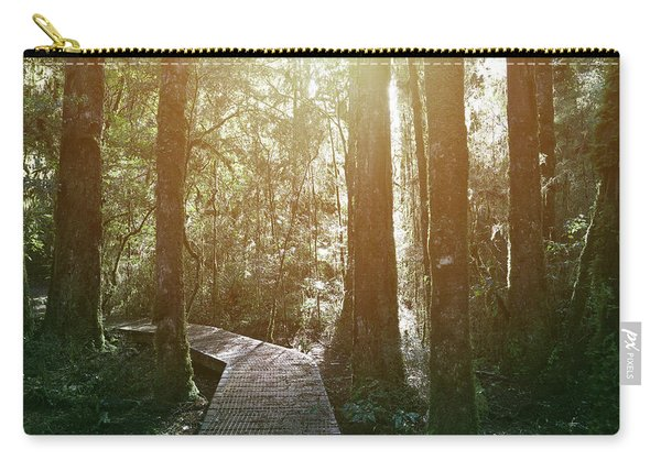 Forest Boardwalk And Trees Carry-all Pouch