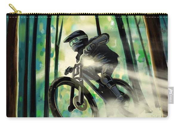 Forest Jump Mountain Biker Carry-all Pouch