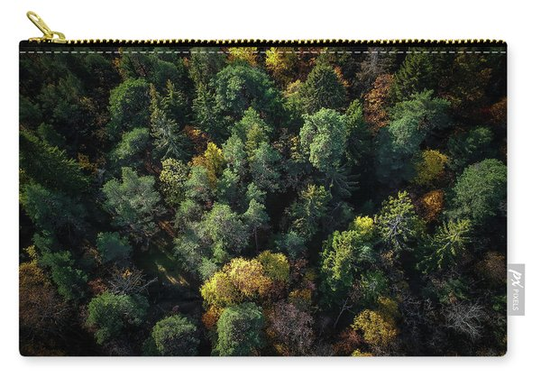 Forest Landscape - Aerial Photography Carry-all Pouch