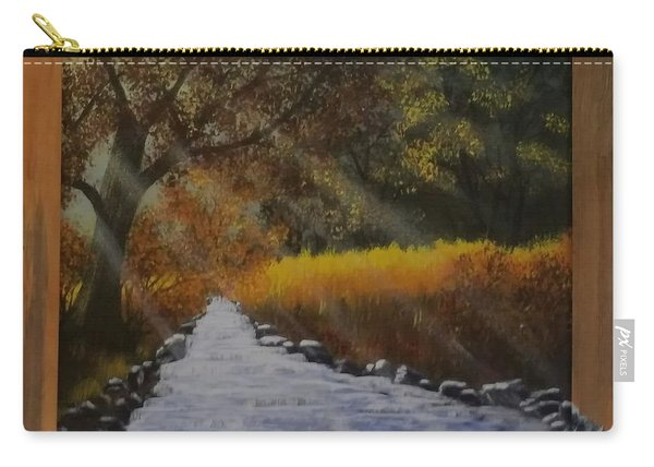 Forest Sunrays Over Water Carry-all Pouch
