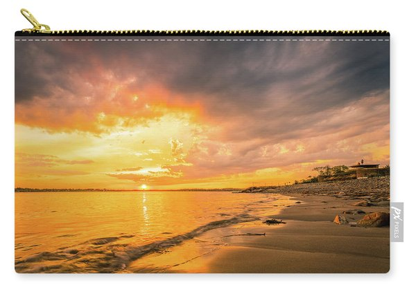 Carry-all Pouch featuring the photograph Fort Foster Sunset Watchers Club by Jeff Sinon