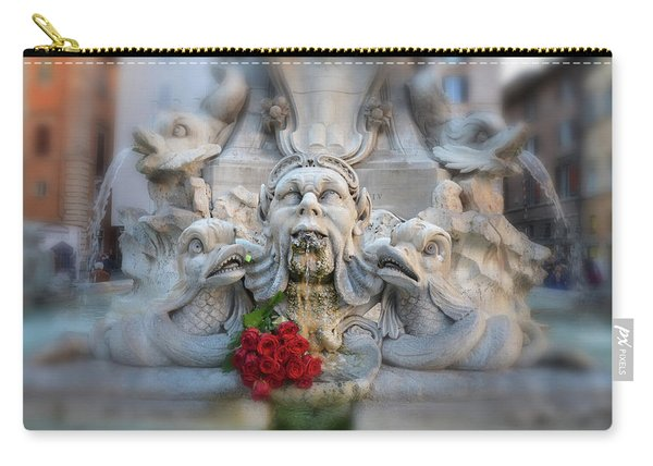 Fountain Of The Pantheon Carry-all Pouch