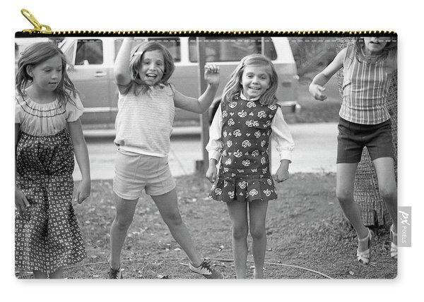 Four Girls, Jumping, 1972 Carry-all Pouch