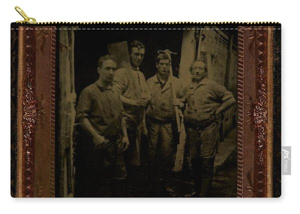 Four Men With Tools  Ca  1860 Ambrotype Carry-all Pouch