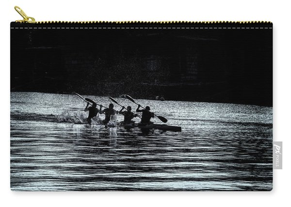 Carry-all Pouch featuring the photograph Four Rowers by Tom Singleton