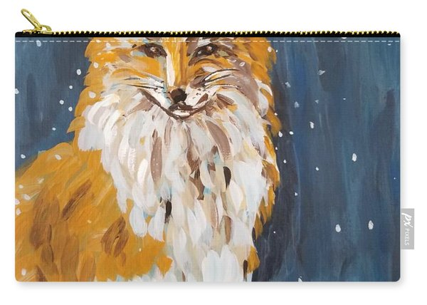 Fox Winter Night Carry-all Pouch