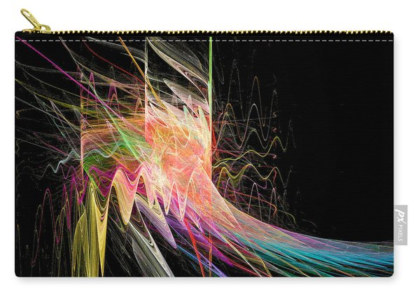 Carry-all Pouch featuring the digital art Fractal Beauty Deluxe Colorful by Don Northup