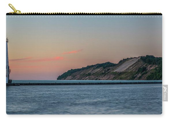 Frankfort North Breakwater Lighthouse Dusk Panorama Carry-all Pouch