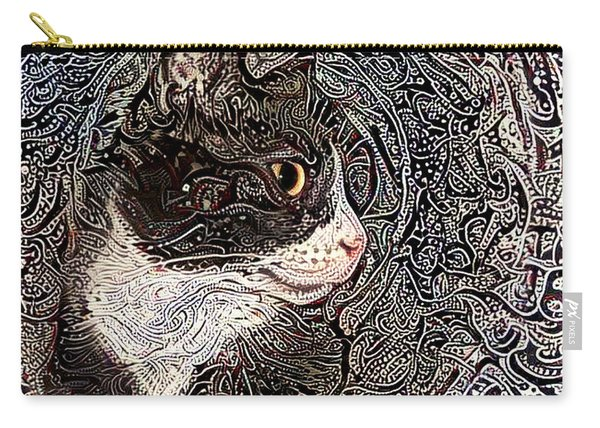 Franklyn The Tuxedo Cat Carry-all Pouch
