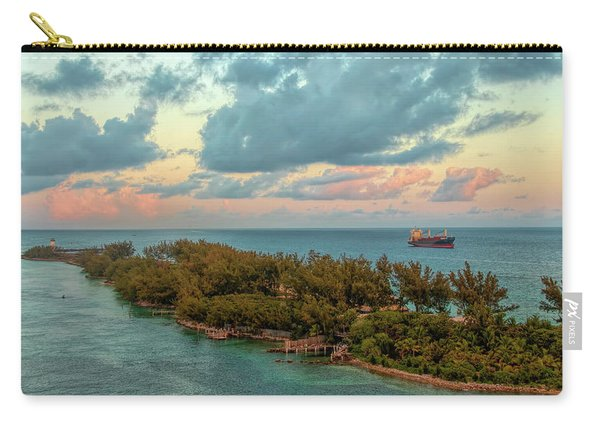 Freighter Off Paradise Island Carry-all Pouch