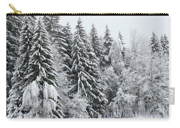 French Alps, Snow Covered Fir Trees In Winter  Photo Carry-all Pouch