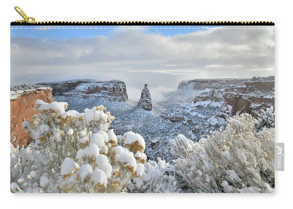 Fresh Snow At Independence Canyon Carry-all Pouch