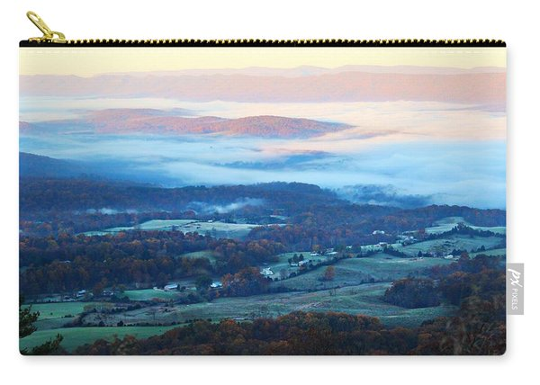 Carry-all Pouch featuring the photograph Frosty Autumn by Candice Trimble