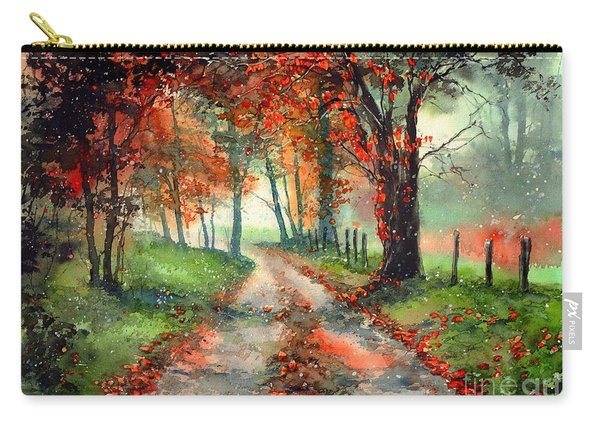 Frosty Autumn Patch Carry-all Pouch